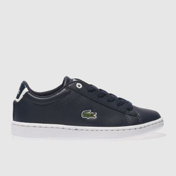 LACOSTE NAVY CARNABY EVO TRAINERS JUNIOR
