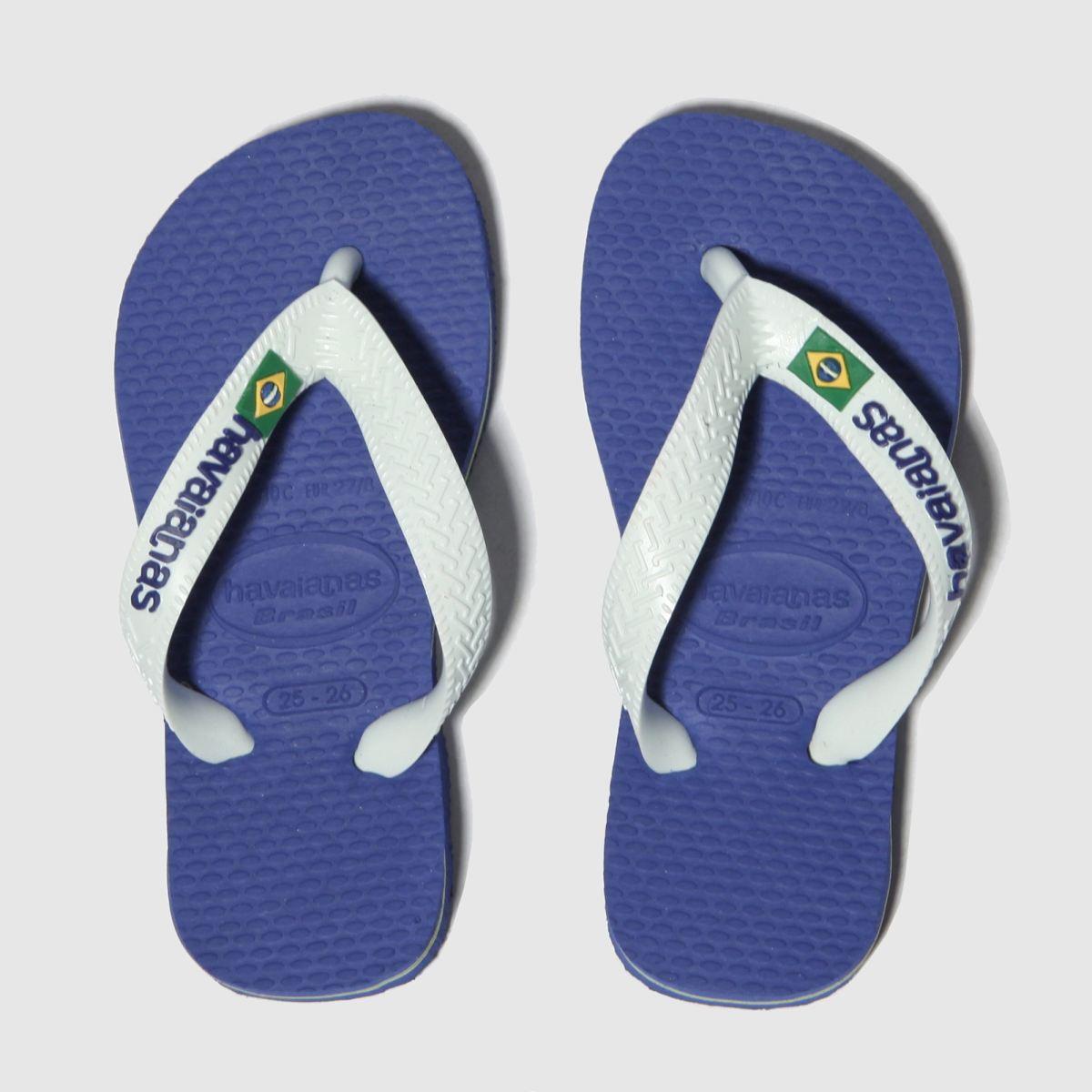 Havaianas Blue Brasil Logo Sandals Junior