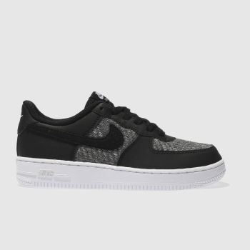 Nike Black & Grey AIR FORCE 1 Boys Junior