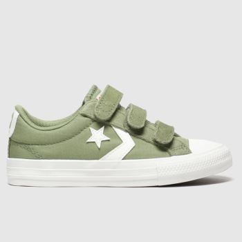 Converse Khaki Cons Star Player 3v Lo Jnr Boys Junior