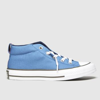 Converse Blue All Star Mid Street Boys Junior