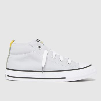 Converse Light Grey Street Mid Boys Junior