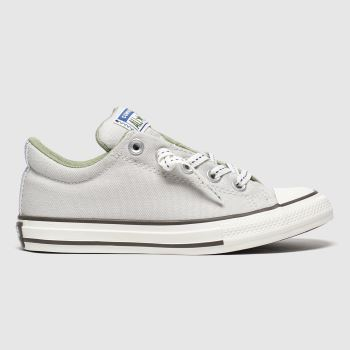 Converse Light Grey All Star Slip Street Boys Junior