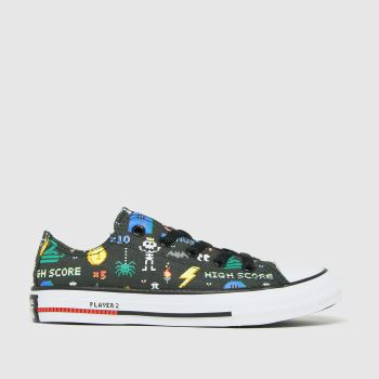 Converse Black and blue Lo Gamer Boys Junior
