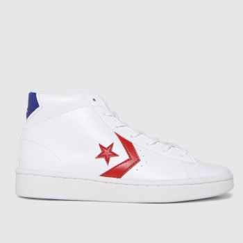 Converse White & Red Pro Leather Hi Boys Junior