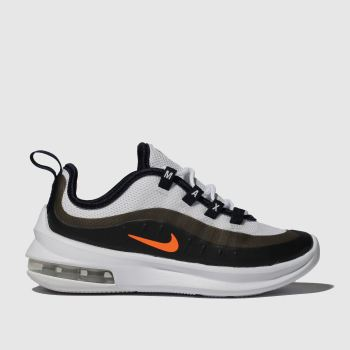 Nike White & Orange AIR MAX AXIS Boys Junior