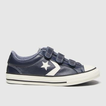 Converse Navy & White Star Player 3v Lo Mc Boys Junior