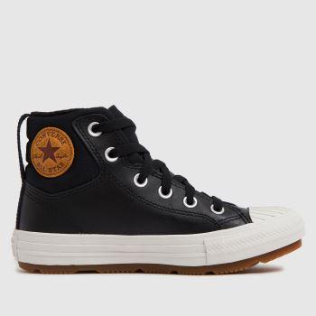 Converse Black Berkshire Boot Boys Junior