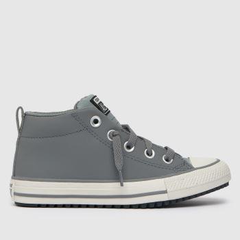 Converse Light Grey Street Boot Boys Junior