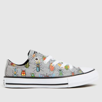 Converse Grey Lo Bugged Out Boys Junior