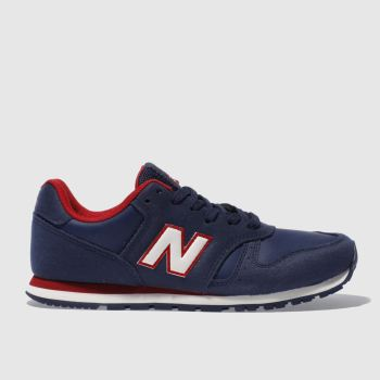 New Balance Navy & Red 373 Boys Junior