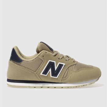 NEW BALANCE TAN 373 BOYS JUNIOR TRAINERS