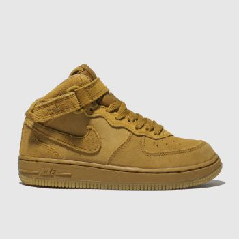 NIKE TAN AIR FORCE 1 HIGH LV8 TRAINERS JUNIOR