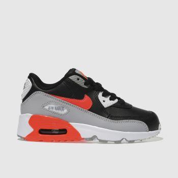 nike air max 90 black and orange junior