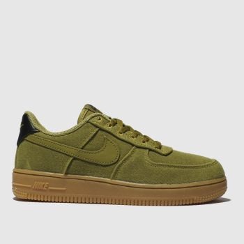 1b5015d0dd0c Nike Khaki Air Force 1 Lv8 Style Boys Junior
