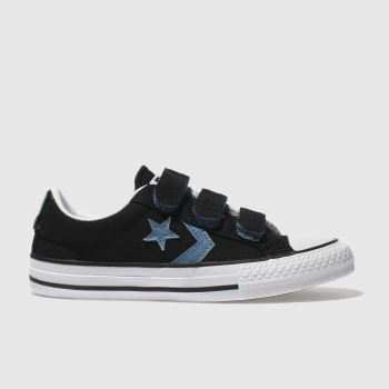 Converse Black and blue STAR PLAYER OX Boys Junior