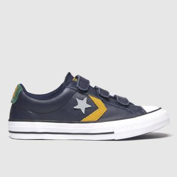 Converse Navy Star Player 3v Lo Boys Junior