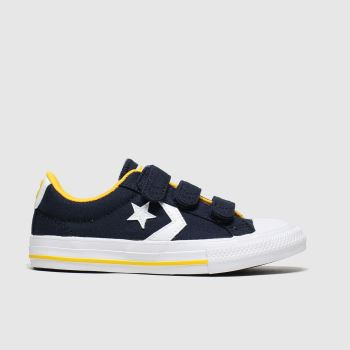 Converse Navy & White Star Player 3v Lo Boys Junior