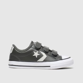 Converse Dark Grey Star Player 3v Lo Boys Junior