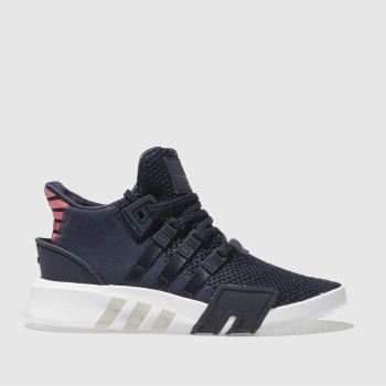 ADIDAS NAVY EQT BASK ADV TRAINERS JUNIOR