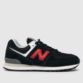 New balance Black & Red 574 Boys Junior