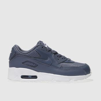 Nike Blue Air Max 90 Mesh Boys Junior
