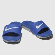 f5197b7d3 Boys blue nike kawa slide trainers