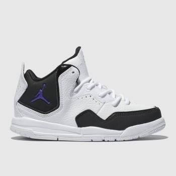 Nike Jordan White & Black Courtside 23 Boys Junior