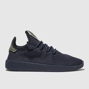 ADIDAS NAVY PHARRELL WILLIAMS TENNIS HU TRAINERS JUNIOR