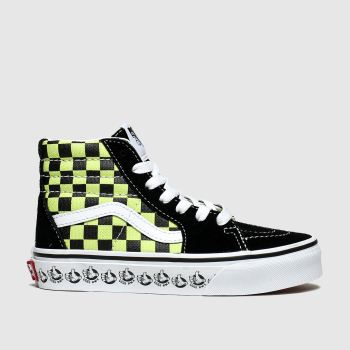 Vans Black & Green Sk8-Hi Boys Junior