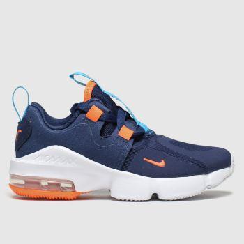 Nike Navy & Orange Air Max Infinity c2namevalue::Boys Junior#promobundlepennant::€5 OFF BAGS