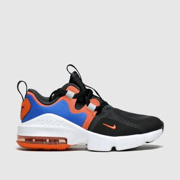 Nike Black & Orange Air Max Infinity Boys Junior