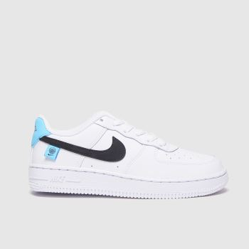 Nike White & Blue Air Force 1 Lv8 1 Ww Boys Junior