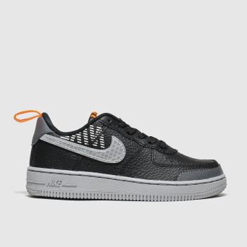 Nike Black & Grey Air Force 1 Lv8 2 Boys Junior