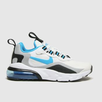 Nike White & Blue Air Max 270 React Boys Junior