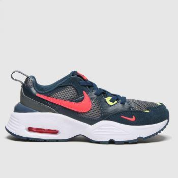 Nike Navy & Red Air Max Fusion Boys Junior#