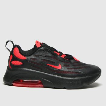 Nike Black & Red Air Max Exosense Boys Junior