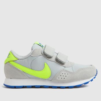 Nike Grey & Lime Md Valiant Boys Junior