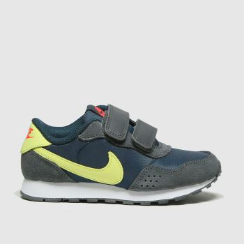 Nike Navy & Lime Md Valiant Boys Junior
