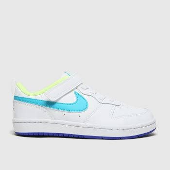 Nike White & Blue Court Borough Low 2 Boys Junior