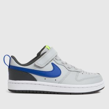 Nike Grey & Navy Court Borough Low 2 Boys Junior