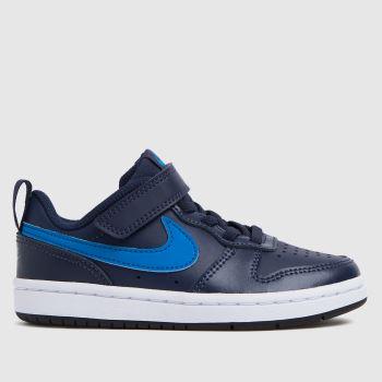 Nike Navy & Pl Blue Court Borough Low 2 Boys Junior