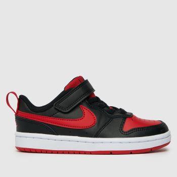 Nike Black & Red Court Borough Low 2 Boys Junior