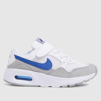 Nike White & Blue Air Max Sc Boys Junior