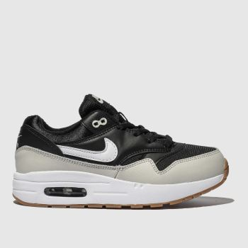 Nike Black & White Air Max 1 Boys Junior