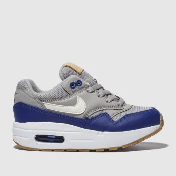 Nike Grey Air Max 1 Boys Junior