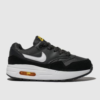 Nike Grey & Black Air Max 1 Boys Junior