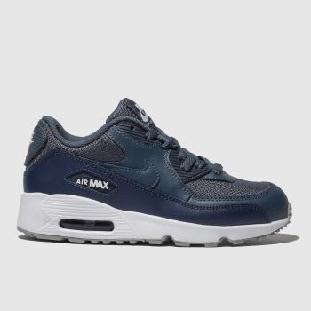 best sneakers 4a107 47023 Nike Marineblau Air Max 90 Mesh Jungen Junior