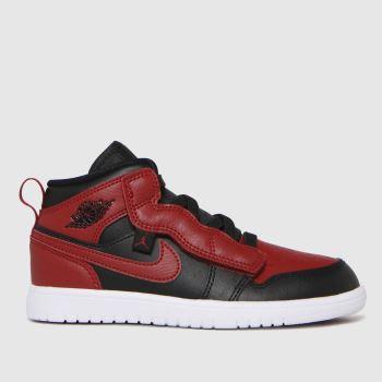 Nike Jordan Black & Red Air 1 Mid Alt Boys Junior