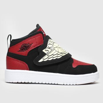 nike jordan black & red sky jordan 1 trainers junior